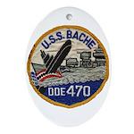 USS BACHE Ornament (Oval)