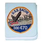 USS BACHE baby blanket