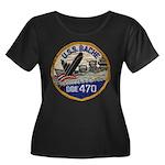 USS BACHE Women's Plus Size Scoop Neck Dark T-Shir