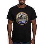 USS BACHE Men's Fitted T-Shirt (dark)