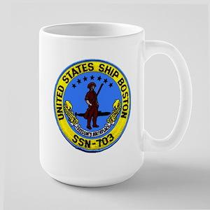 USS Boston SSN 703 Large Mug