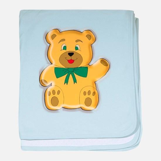 Golden Teddy Bear baby blanket
