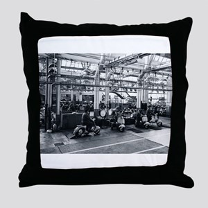 Scooter Factory Throw Pillow