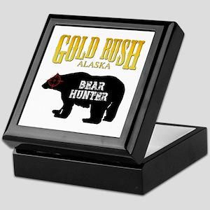 Gold Rush Bear Hunter Keepsake Box