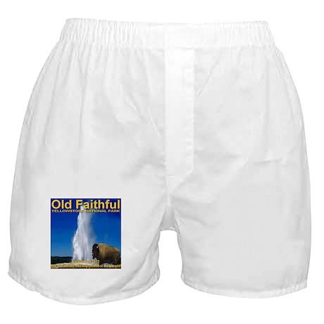 Old Faithful Yellowstone Nati Boxer Shorts