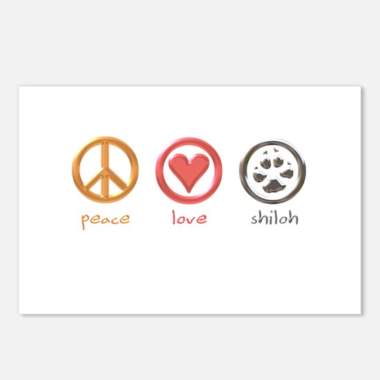 peace-love-shiloh Postcards (Package of 8)