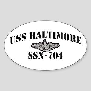 USS BALTIMORE Sticker (Oval)