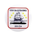 "USS BALTIMORE 3.5"" Button"