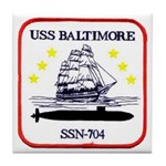 USS BALTIMORE Tile Coaster