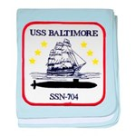 USS BALTIMORE baby blanket