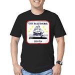 USS BALTIMORE Men's Fitted T-Shirt (dark)
