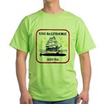 USS BALTIMORE Green T-Shirt