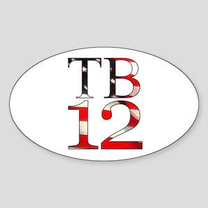TB 12 Sticker (Oval)