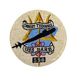"USS BARB 3.5"" Button"