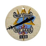 USS BARB Ornament (Round)