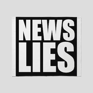 News Lies Throw Blanket