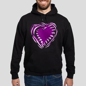 HEART {21} : purple Hoodie (dark)