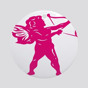 CUPID {12} : pink Ornament (Round)