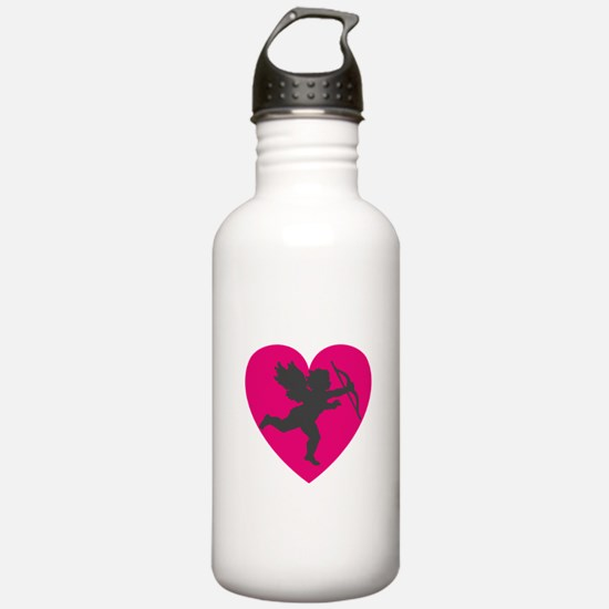 CUPID {13} : pink/gray Water Bottle