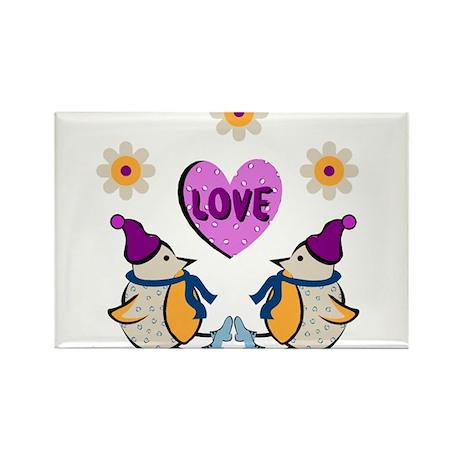 LOVE PENQUINS Rectangle Magnet (100 pack)
