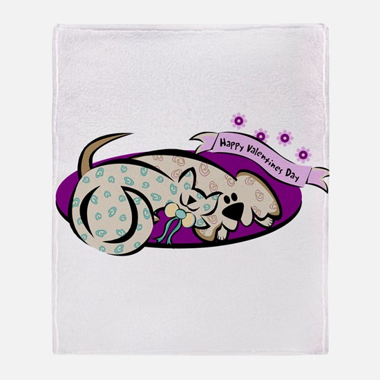 HAPPY VALENTINES DAY {2} ; pu Throw Blanket