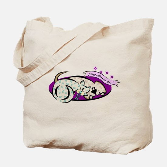 HAPPY VALENTINES DAY {2} ; pu Tote Bag