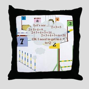 Snooker Math Throw Pillow