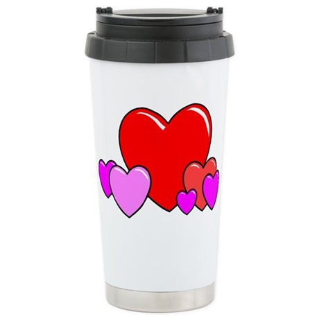 HEARTS {25} Stainless Steel Travel Mug