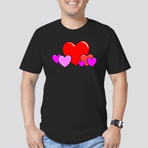 HEARTS {25} Men's Fitted T-Shirt (dark)