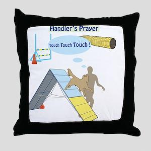 Handler's Prayer Throw Pillow