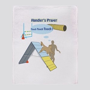 Handler's Prayer Throw Blanket
