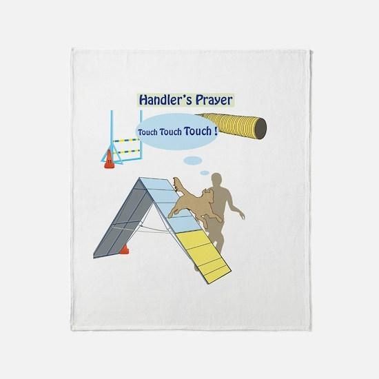 Handler's Prayer Throw Blanket
