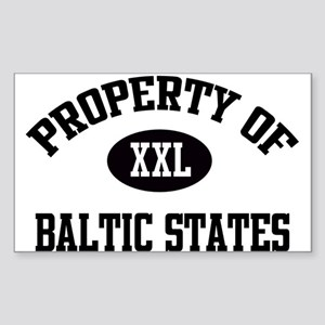 Property of Baltic States Rectangle Sticker