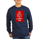 50th Birthday Keep Calm Long Sleeve Dark T-Shirt
