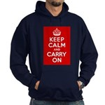 50th Birthday Keep Calm Hoodie (dark)