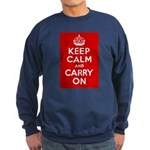 50th Birthday Keep Calm Sweatshirt (dark)