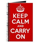 50th Birthday Keep Calm Journal