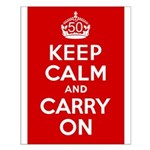 50th Birthday Keep Calm Small Poster