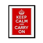 50th Birthday Keep Calm Framed Panel Print
