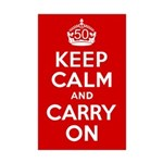 50th Birthday Keep Calm Mini Poster Print
