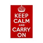 50th Birthday Keep Calm Rectangle Magnet (10 pack)