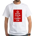 50th Birthday Keep Calm White T-Shirt