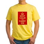 50th Birthday Keep Calm Yellow T-Shirt