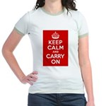 50th Birthday Keep Calm Jr. Ringer T-Shirt