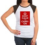 50th Birthday Keep Calm Women's Cap Sleeve T-Shirt