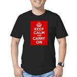 50th Birthday Keep Calm Men's Fitted T-Shirt (dark
