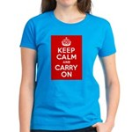 50th Birthday Keep Calm Women's Dark T-Shirt