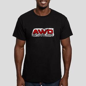 All Wheel Drift Men's Fitted T-Shirt (dark)