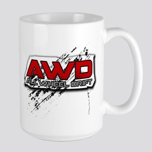 All Wheel Drift Large Mug