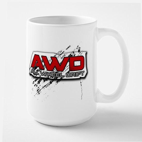 All Wheel Drift Large Mug